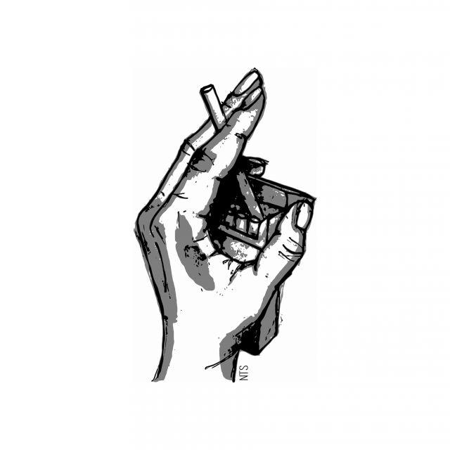 Poster Mão Cigarro 05