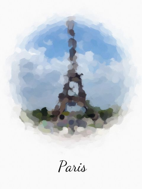 Poster Paris   torre eiffel frança