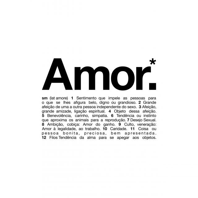 Poster Amor   significado