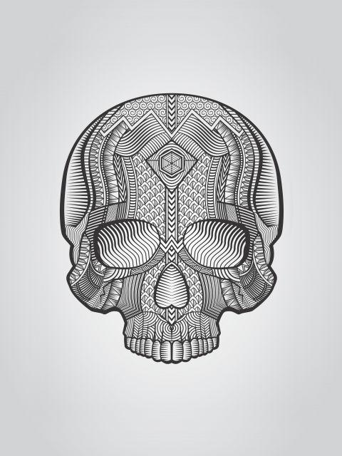 Poster Caveira Custom  skull
