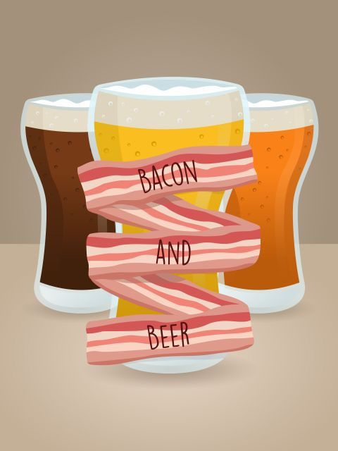 Poster Bacon and Beer
