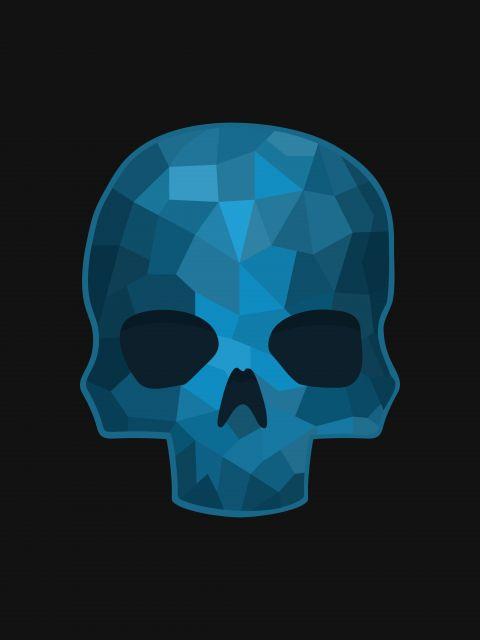 Poster Blue Skull