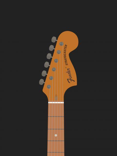 Poster Stratocaster Guitar   guitarra