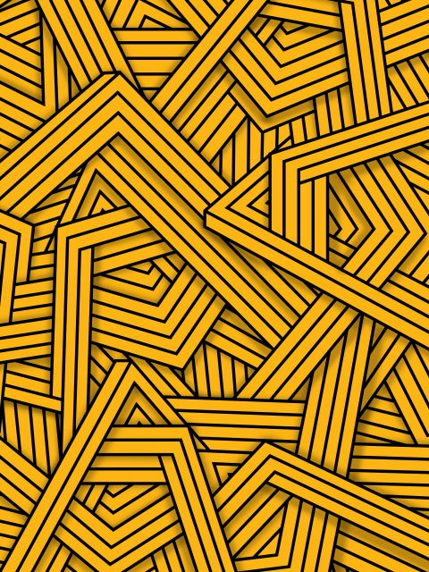 Poster Lines - Yellow