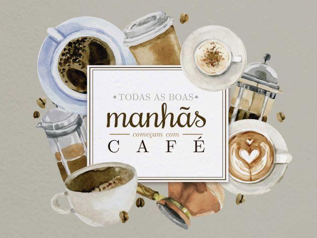 Poster Café em Aquarela
