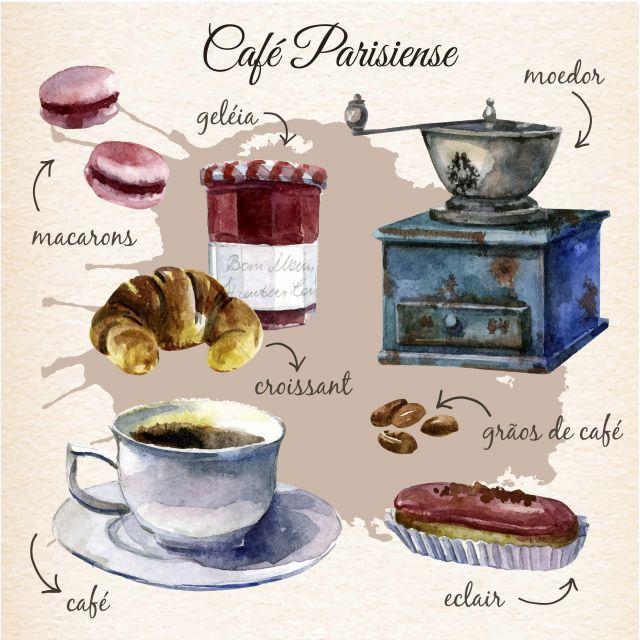 Poster Café da manhã Parisiense