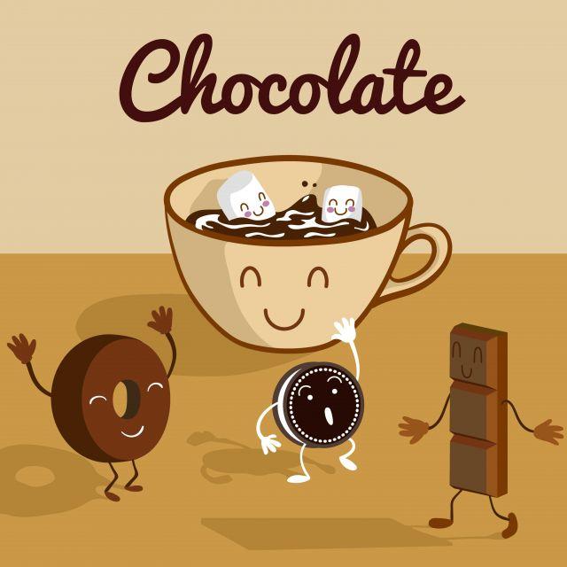 Poster Chocolate quente animado