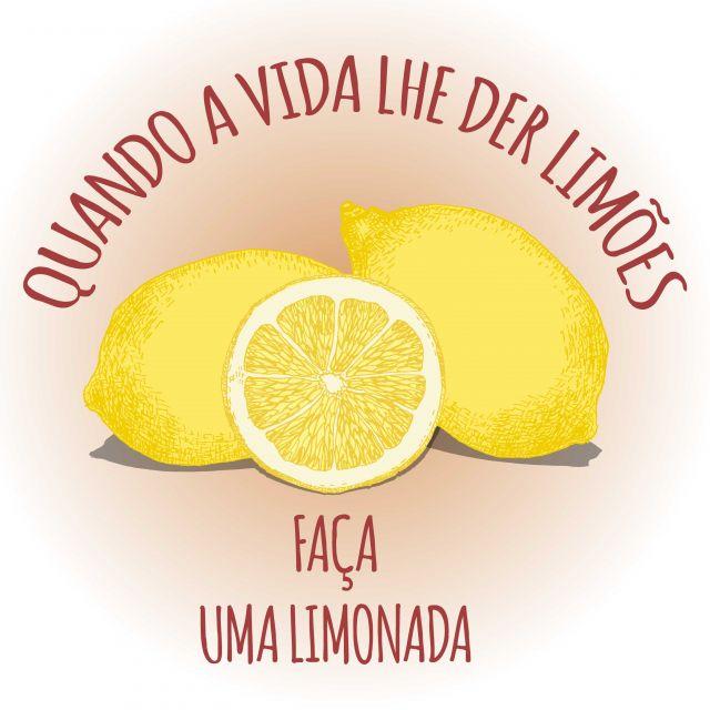 Poster Limão motivacional
