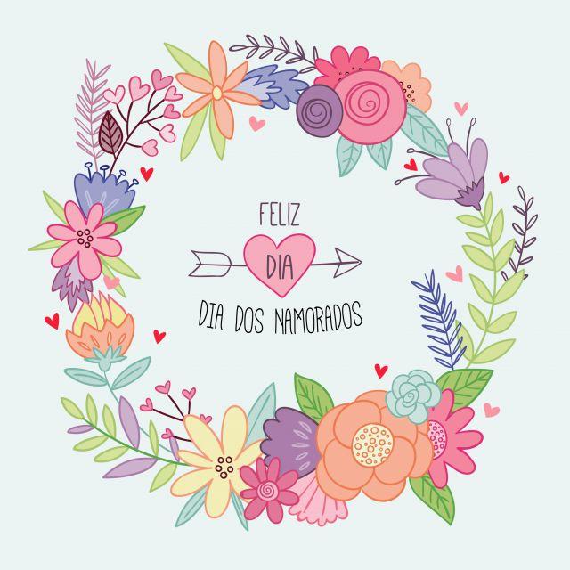 Poster Guirlanda floral - Namorados
