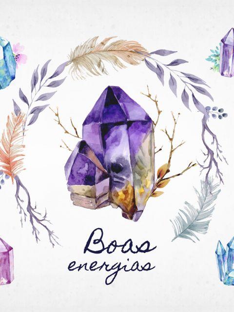 Poster Boas Energias -estilo Boho