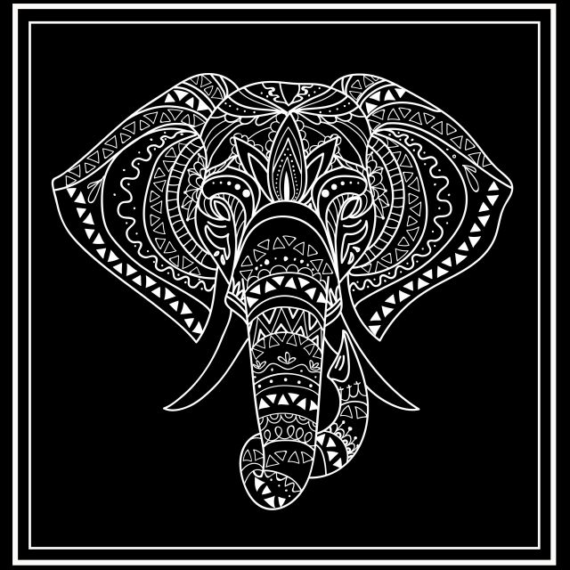 Poster Elefante étnico