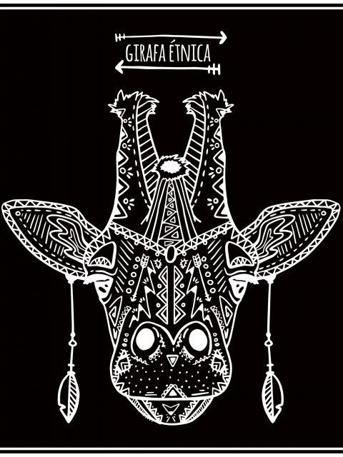 Poster Girafa Étnica