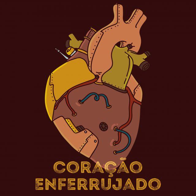 Poster Coração de ferro enferrujado