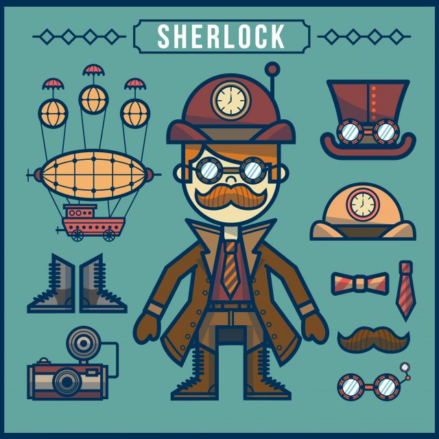 Poster Sherlock Holmes Steampunk