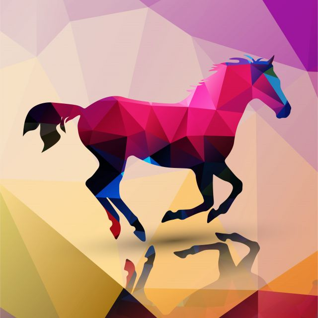 Poster Cavalo lowpoly