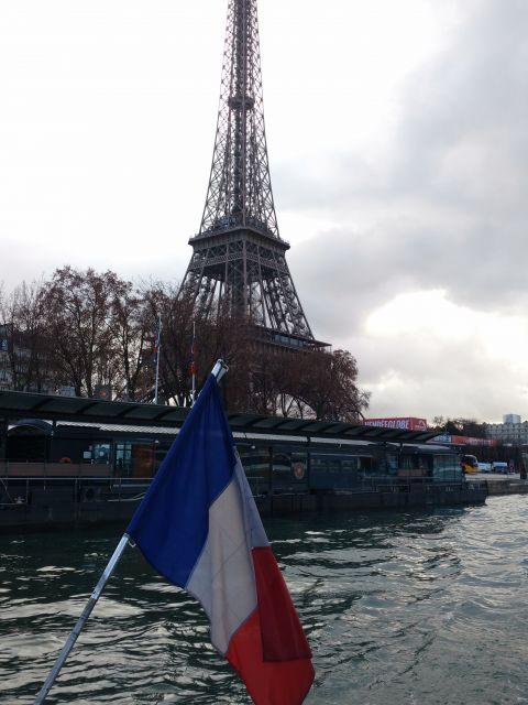 Poster Bateau et la Tour Eiffel