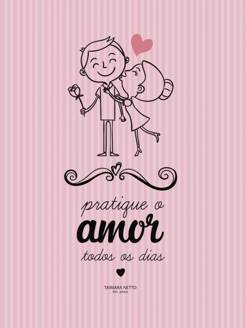 Poster Amor todo dia  Rosa