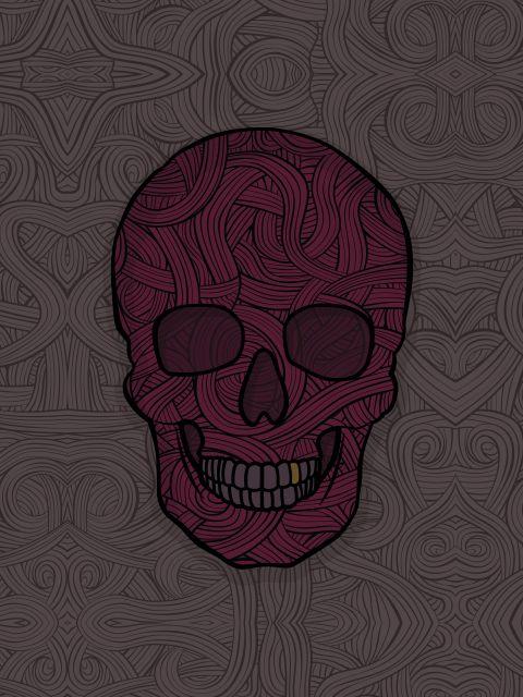 Poster Skull Lines   caveira skull