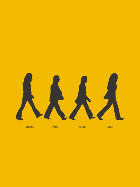 Poster Abbey Road - Yellow  The Beatles