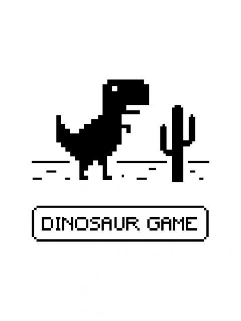 Poster Dinosaur Game