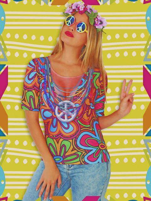 Poster Mulher hippie