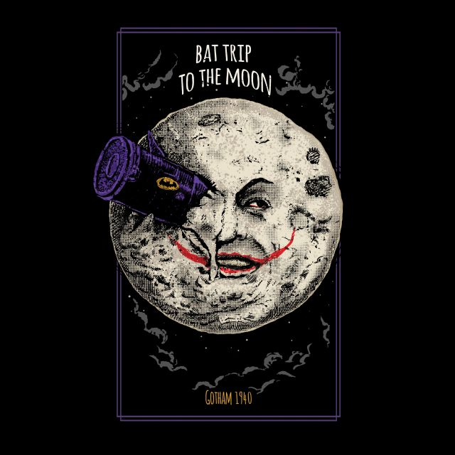 Poster Bat Trip to the Moon