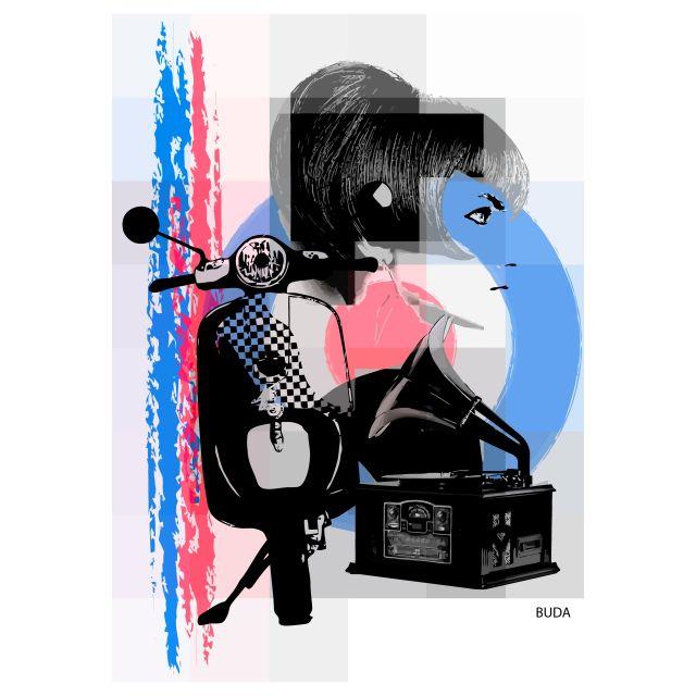 Poster Mod Girl 1