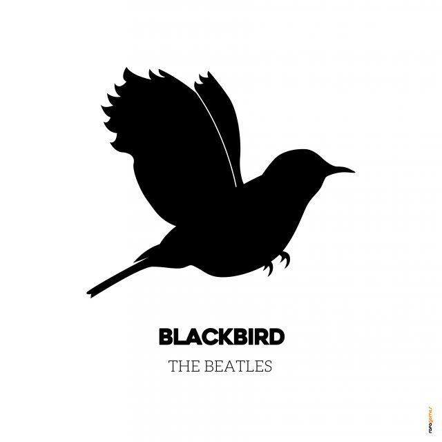 Poster Blackbird   beatles