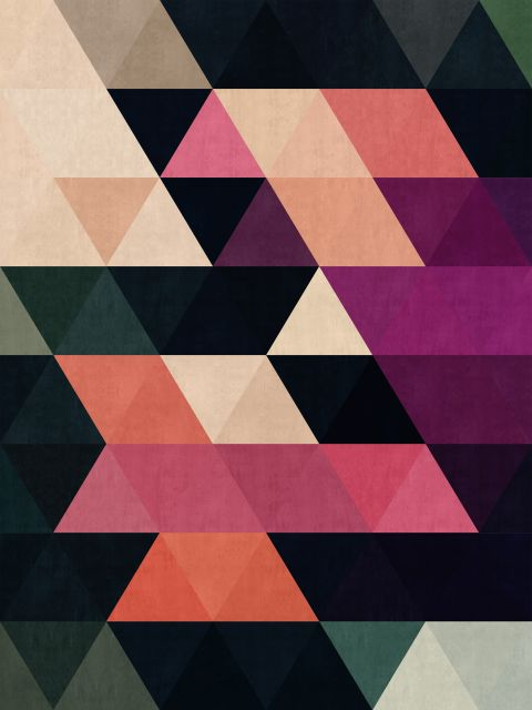 Poster Abstrato de triângulos