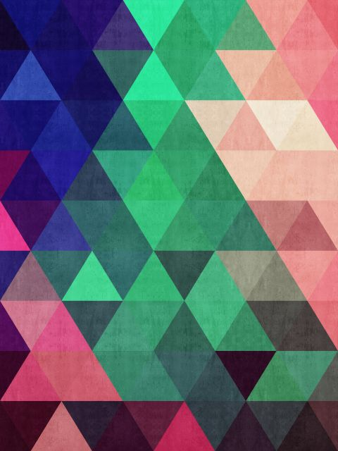 Poster Abstrato de triângulos I