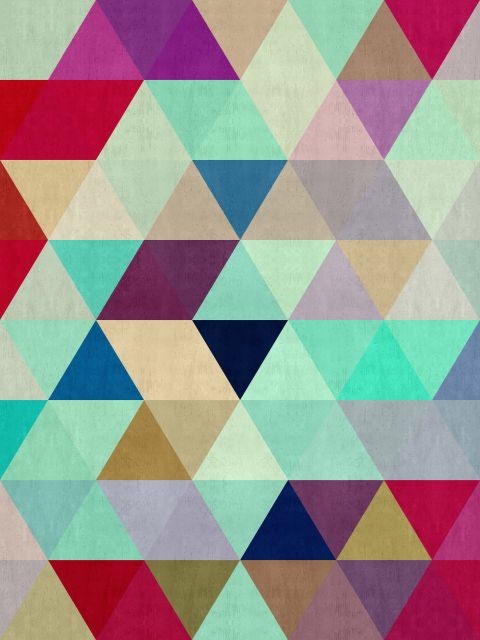 Poster Abstrato de triângulos II