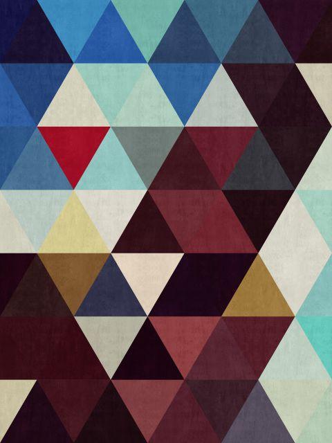 Poster Abstrato de triângulos III