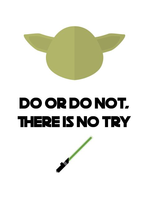 Poster Yoda-Do or Do Not   star wars