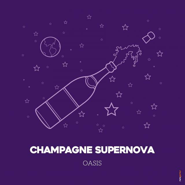 Poster Champagne Supernova   oasis roxo