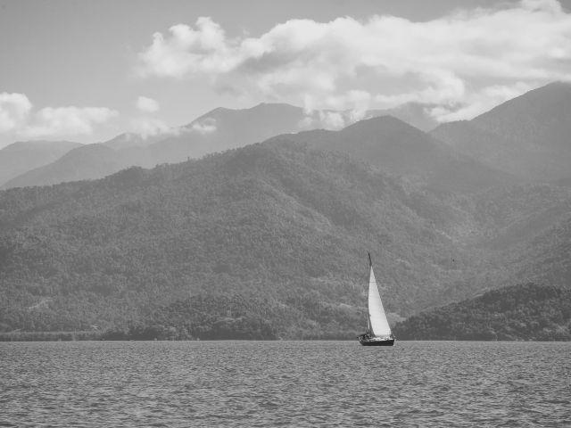 Poster Veleiro Preto e Branco   barco paisagem