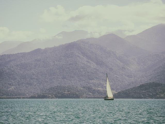 Poster Veleiro    paisagem barco