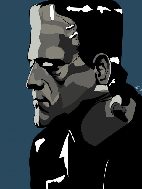 Poster Frankenstein   terror