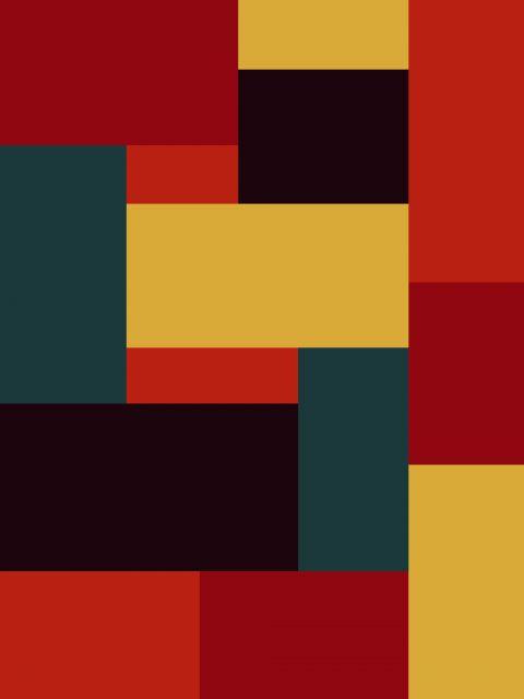 Poster Xadrez multicolor