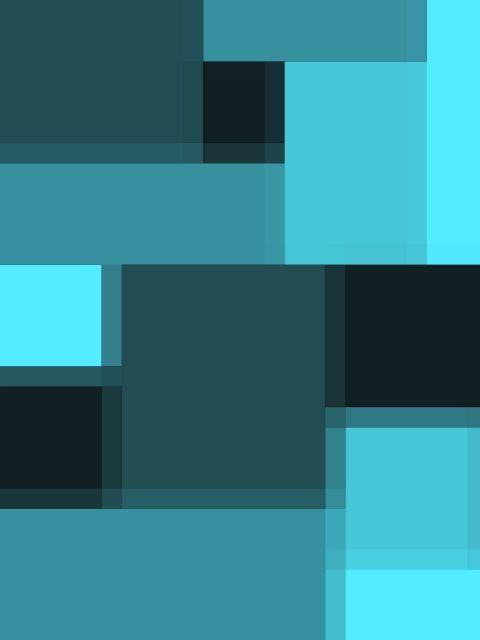 Poster Sombras cobalto   azul