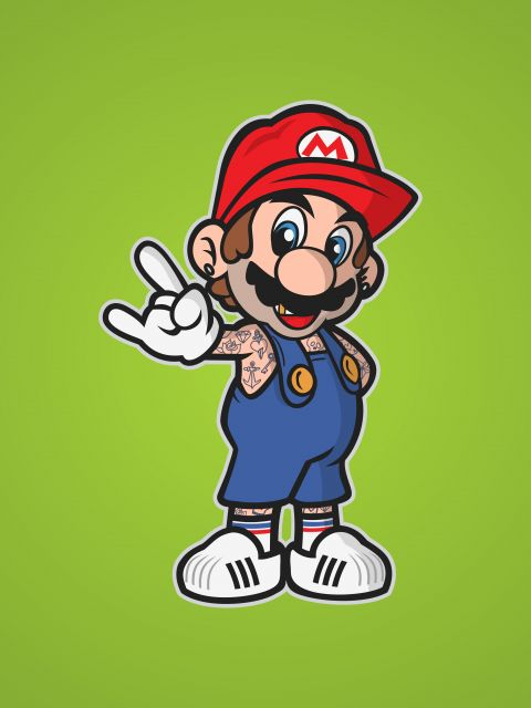 Poster Mario Old School   game jogo