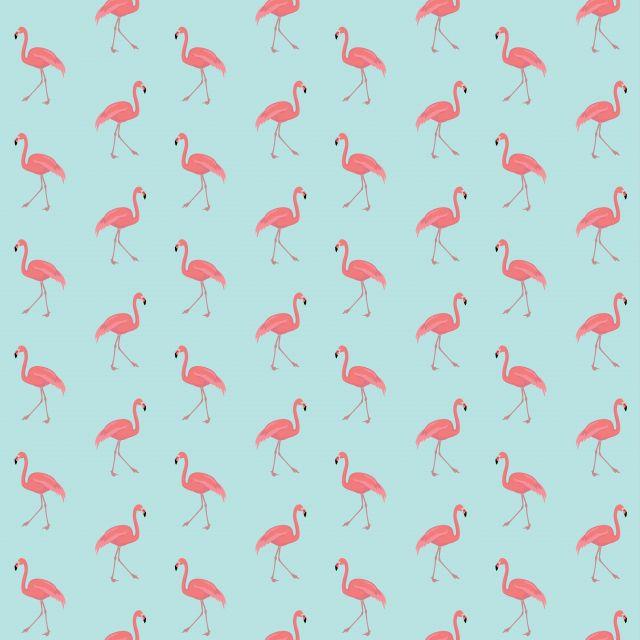 Poster Flamingo - RK   azul