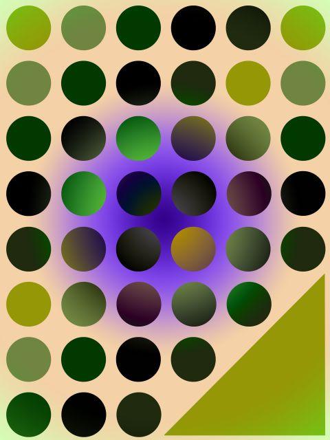Poster Esferas alinhadas   verde
