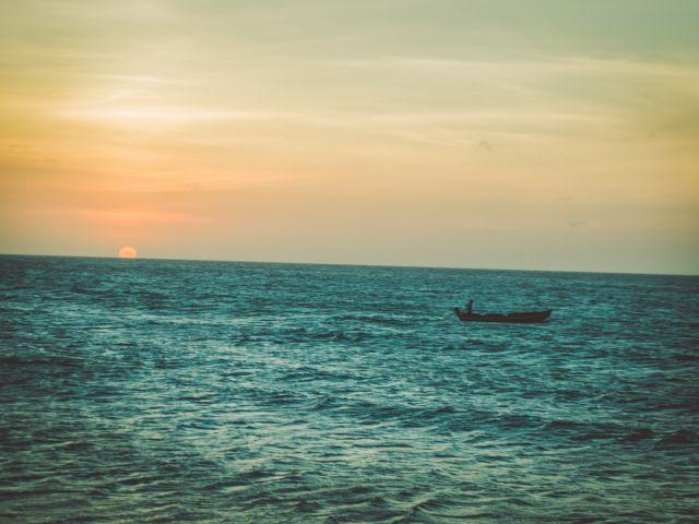 Poster Pôr do Sol   mar paisagem