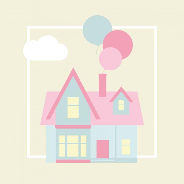 Poster Casa de Sonho 1   casa amarelo