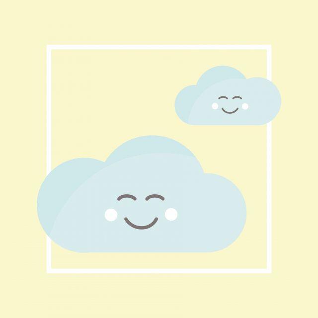 Poster Nuvens Animadinhas 1   nuvem amarelo