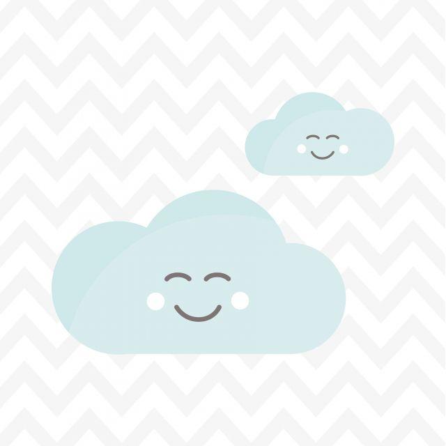 Poster Nuvens Animadinhas 2   chevron nuvem