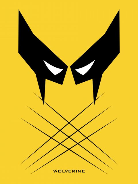 Poster Wolverine   x-men amarelo