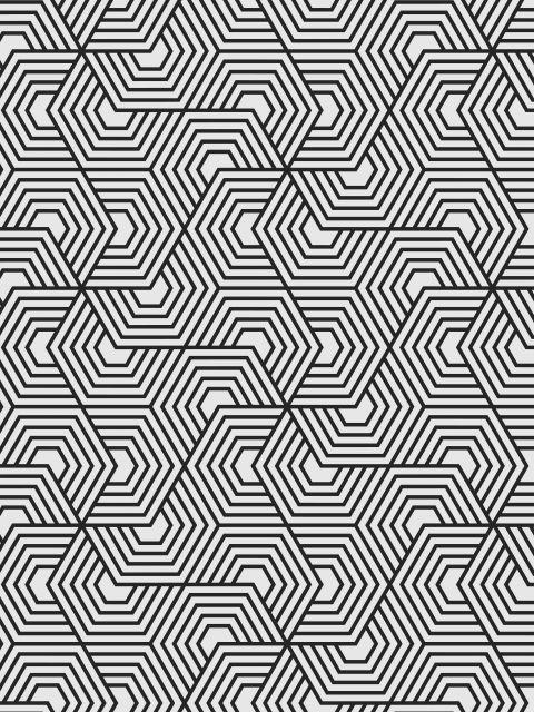 Poster Hexagon - Lines    linhas