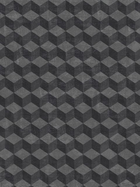 Poster Black Cube   preto cubos
