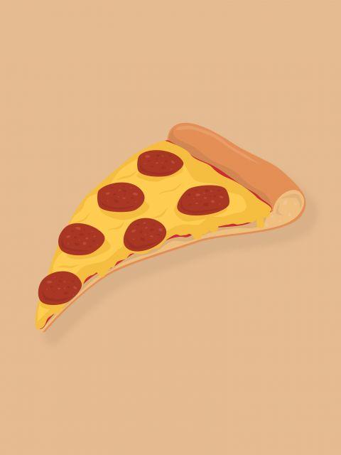 Poster Pizza - RK   comida pizza